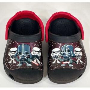 Star Wars Crocs Boys Shoes Black Red Space Theme
